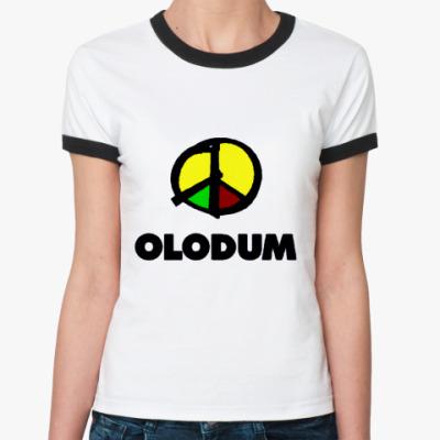 Женская футболка Ringer-T    olodum