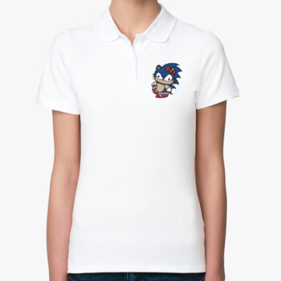 Женская рубашка поло Kitty Sonic