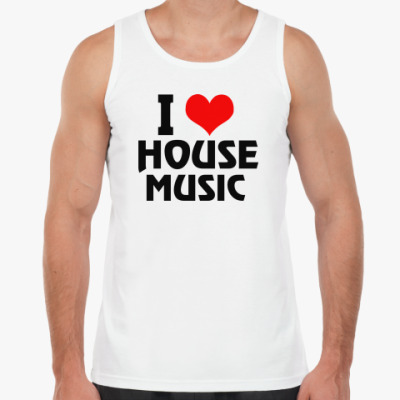 Майка i love house music