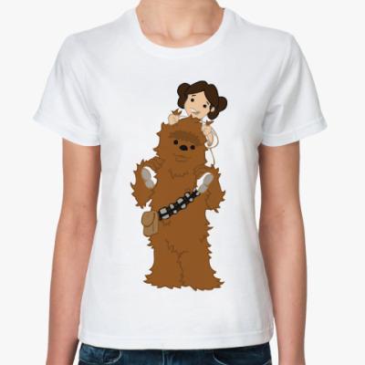 Классическая футболка Чубакка и Лея (Star Wars)