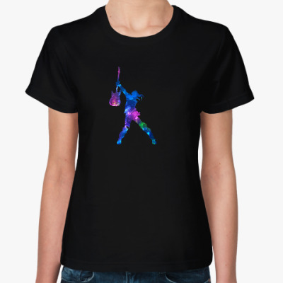 Женская футболка Love music