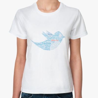 Классическая футболка Twitter Words
