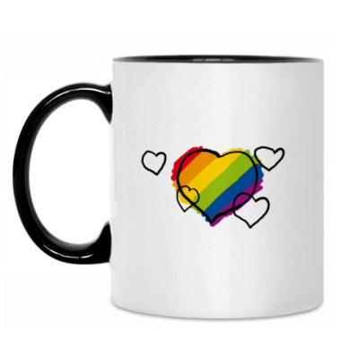 Кружка 'Rainbow hearts'