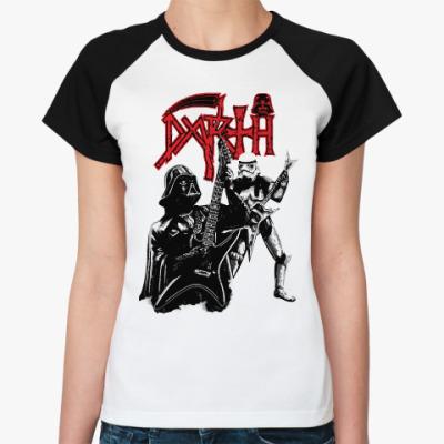 Женская футболка реглан Darth Metal