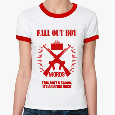 Женская футболка Ringer-T FOB words  Ж (б/к)