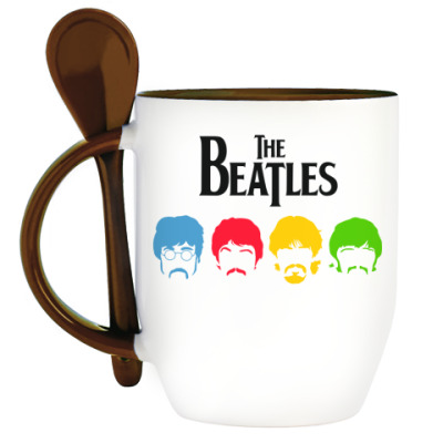Кружка с ложкой Beatles