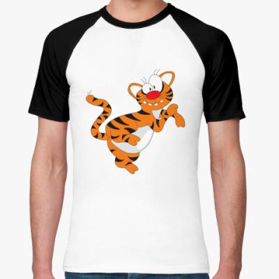 Футболка реглан Funny tiger