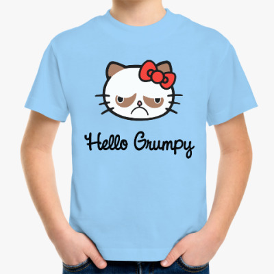 Детская футболка Hello Grumpy Cat