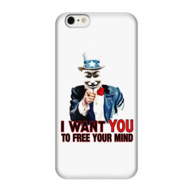 Чехол для iPhone 6/6s Anonymous Uncle Sam