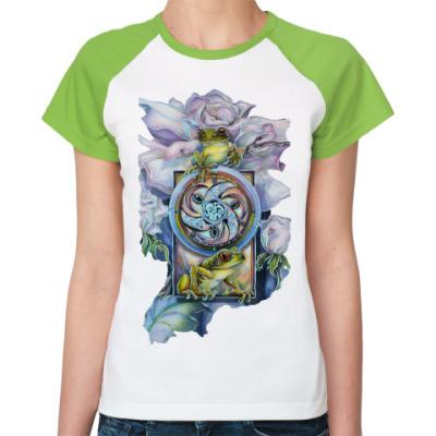 Женская футболка реглан Princess frog