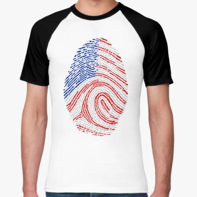 Футболка реглан USA отпечаток