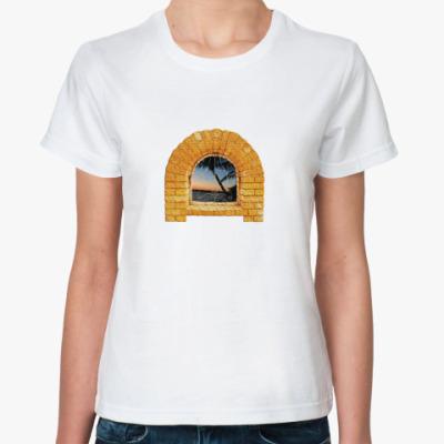 Классическая футболка 'Окно в лето'