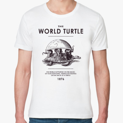 Футболка из органик-хлопка  World Turtle