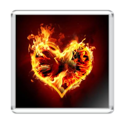 Магнит Пламенное сердце