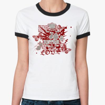Женская футболка Ringer-T Retro