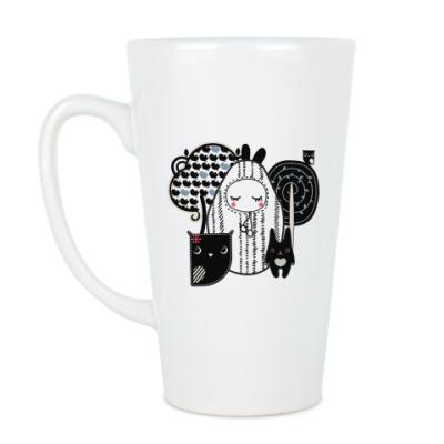 Чашка Латте Лесные зверушки