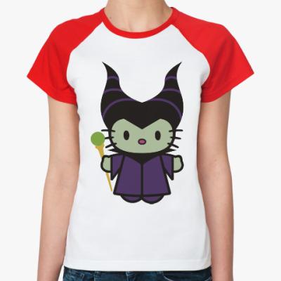 Женская футболка реглан Китти Малефисента