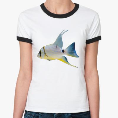 Женская футболка Ringer-T Рыбка