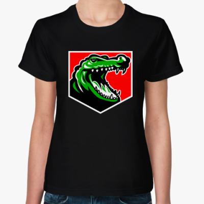 Женская футболка Аллигатор
