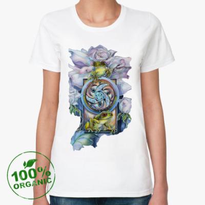 Женская футболка из органик-хлопка Princess frog