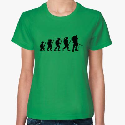 Женская футболка Эволюция черепашки