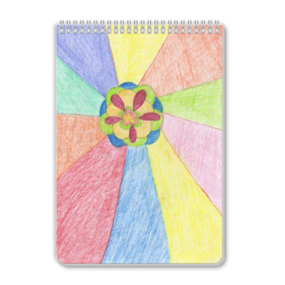 Блокнот 'Яркий цветок'