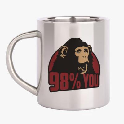 Кружка металлическая 98% тебя