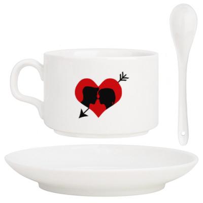 Кофейный набор Сердце хочет любви
