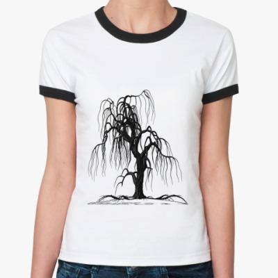 Женская футболка Ringer-T  Tree