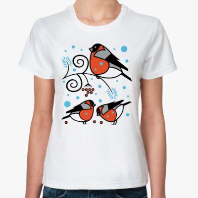 Классическая футболка Снегири