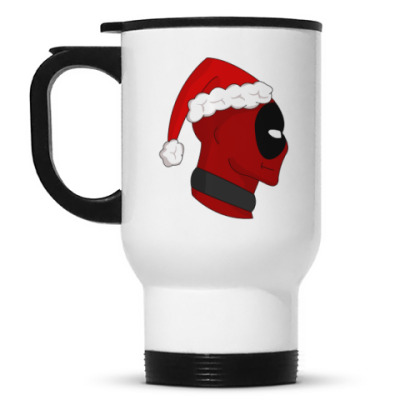 Кружка-термос Christmas with Deadpool