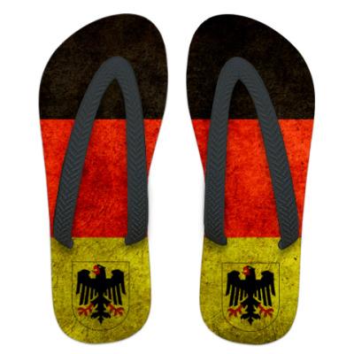Шлепанцы (сланцы)   Немецкий флаг