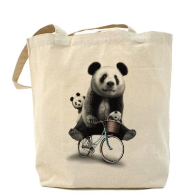 Сумка Панды на велосипеде