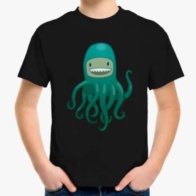 Детская футболка Море. Спрут. Пират. Осьминог.