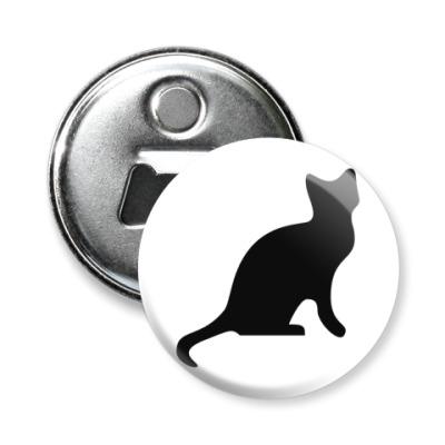 Магнит-открывашка Кошка