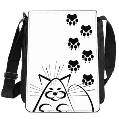 Сумка-планшет Кот в мешке