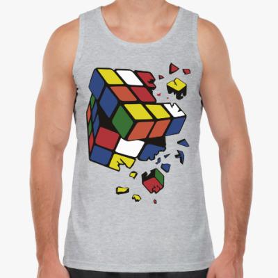 Майка Сломанный кубик Рубика