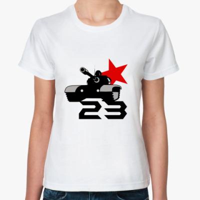 Классическая футболка tank red 23