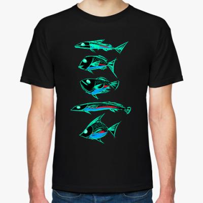 Футболка Абстрактные рыбы
