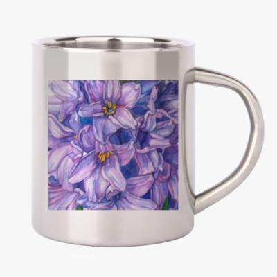 Цветок гиацинт акварель