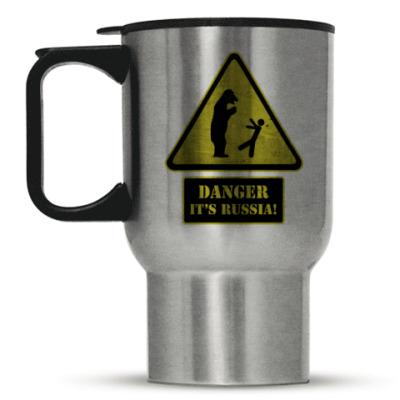 Кружка-термос Danger It's Russia