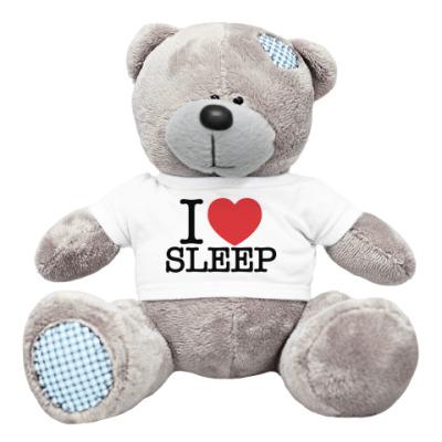 Плюшевый мишка Тедди I love sleep