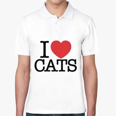 Рубашка поло я Люблю кошек