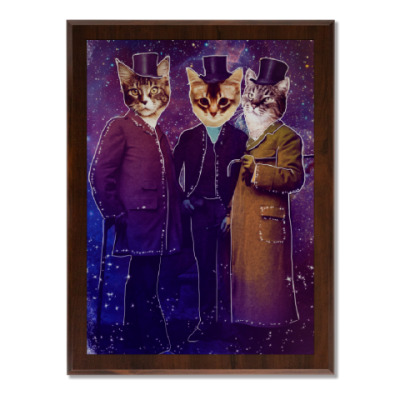 Плакетка Три космических кота