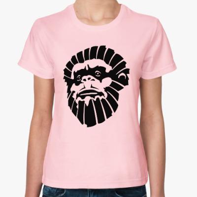 Женская футболка Лицо обезьяны