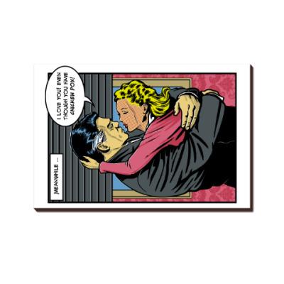 Страница из ретро комикса