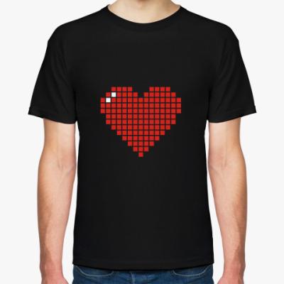 Футболка Пиксельное сердце