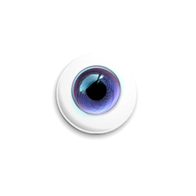 Значок 25мм  Глаз - фиолетовый 2