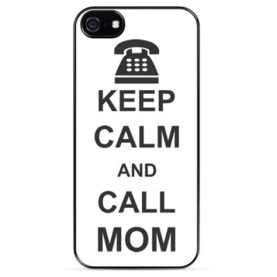 Чехол для iPhone  Call mom.
