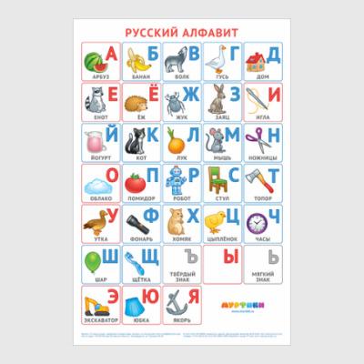 Постер Русский алфавит Муртики